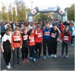 Die Kids der GSRS -Lauf-AG schnuppern wieder einmal echte Marathonluft.